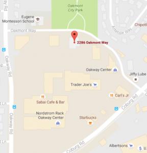 Map to 2286 Oakmont Way