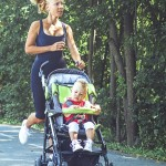 Eugene chiropractic sports physician on safe outdoors exercise with baby